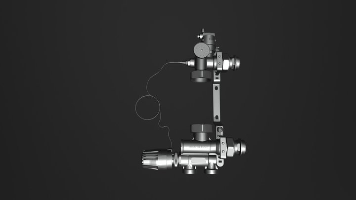 FIV Solomix Mixing Unit with Thermostatic contro 3D Model