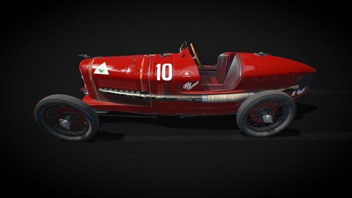 1924 Alfa Romeo P2 3D Model