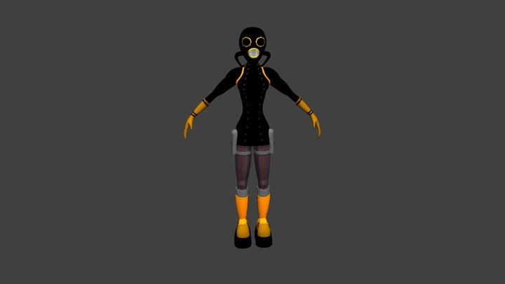 Steampunk Girl. 3D Model