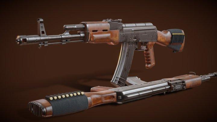 AK 74 - Kalashnikov Automatic Rifle Model 1974 3D Model