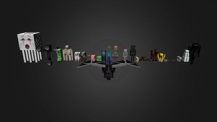 Minecraft_Mob_Rig 3D Model