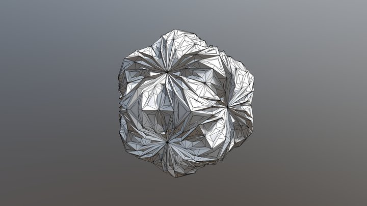Edge-base subdivided Dodecahedron 3D Model