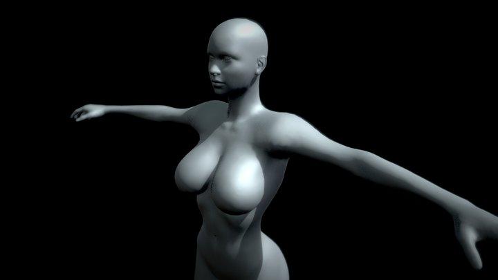 Fitness Girl - Beautiful Female Body 3D Model