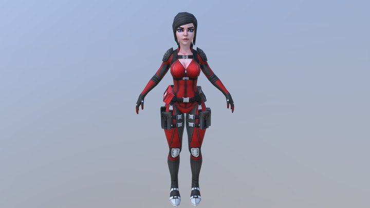 Free - Lily 2 - Game Character - Low Poly Female 3D Model