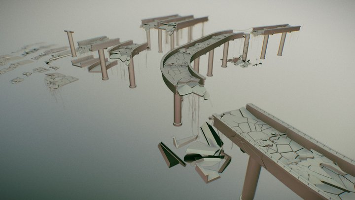 Bridges and Street assets 3D Model