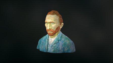 Vincent Van Gogh - Painterly Character Bust 3D Model