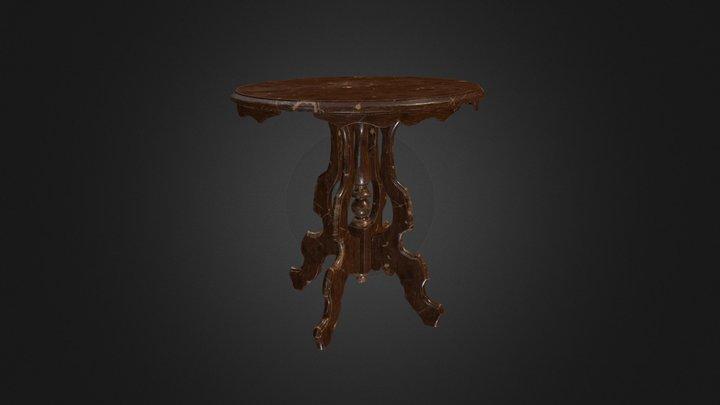 Pedestal Table 002 (Low Poly) V1 3D Model