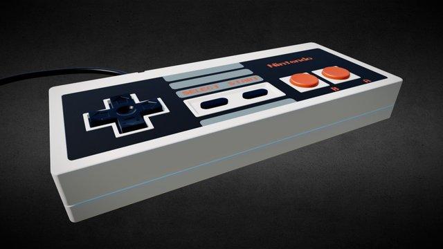 NES Gamepad 3D Model