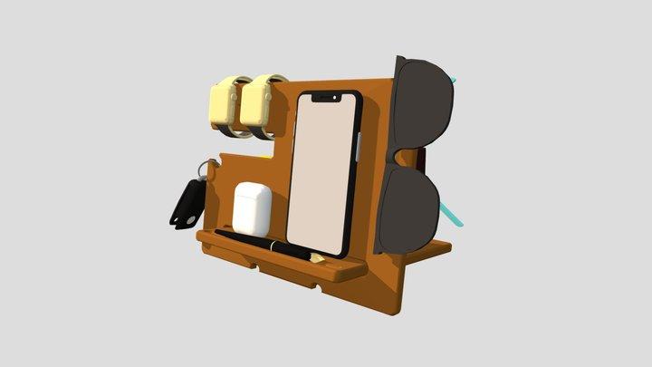 Phone Wooden Organizer ● Органайзер для телефона 3D Model