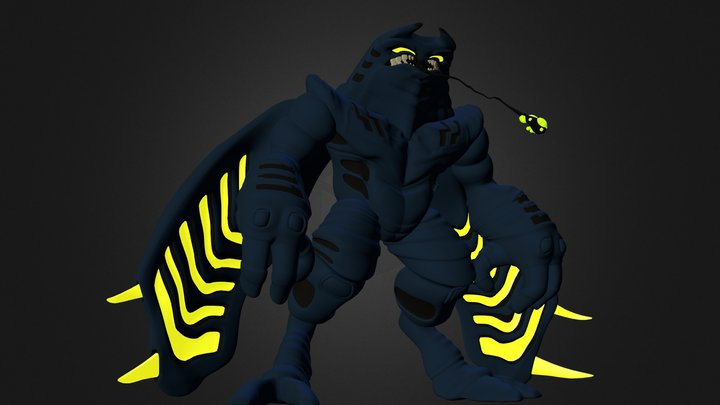 BaamRah the Devil Ray 3D Model