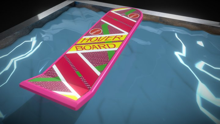 Hoverboard floats on water [BTTF 2] 3D Model