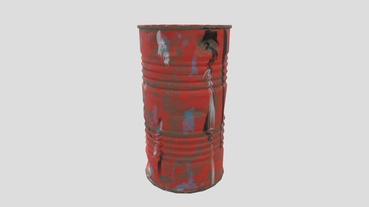 ACG Oil Drum 3D Model