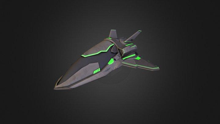 Human Medium Ship 3D Model