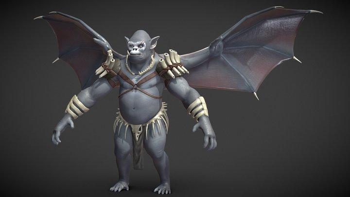 Winged Gorilla 3D Model