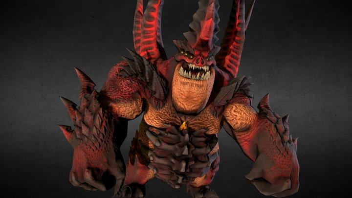 Demon Boss 3D Model