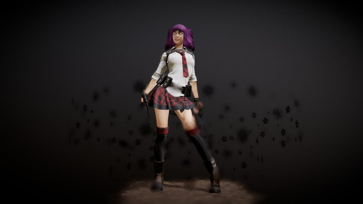 Ariana Character Overview 3D Model
