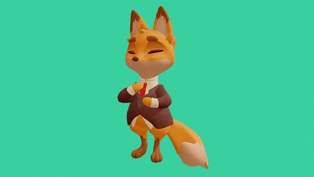 Business fox 3D Model