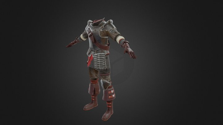 Heavy Merc Costume 3D Model