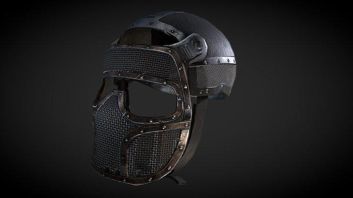 Mask Paint Ball 3D Model