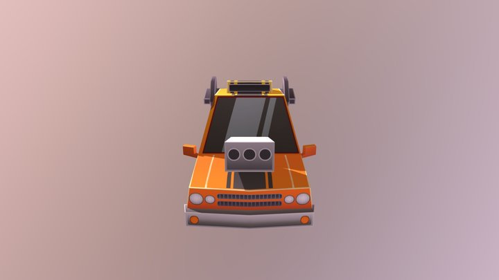 Car Muscle 03 orange 3D Model
