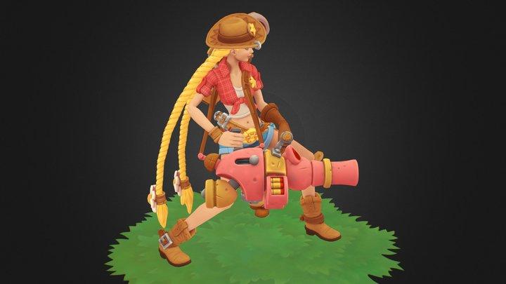 Jinx Cowgirl 3D Model