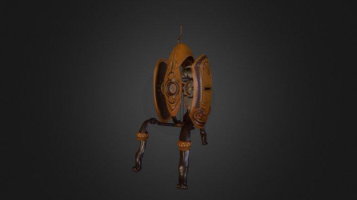 Steampunk Portal Turret 3D Model