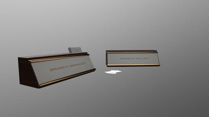 Desk Name Plaque (2 kinds) 3D Model
