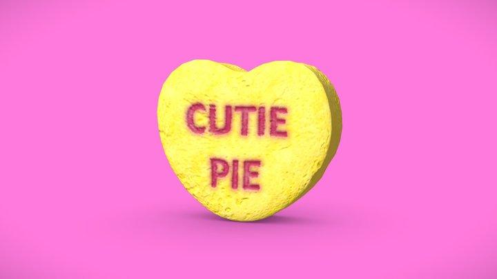 Heart Candy - Cutie Pie 3D Model