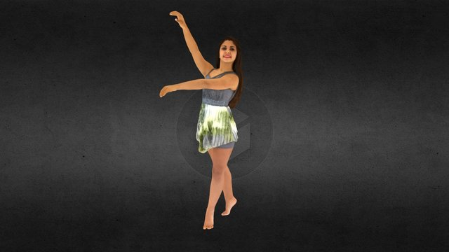 Juliana Dancer Pose 3D Model