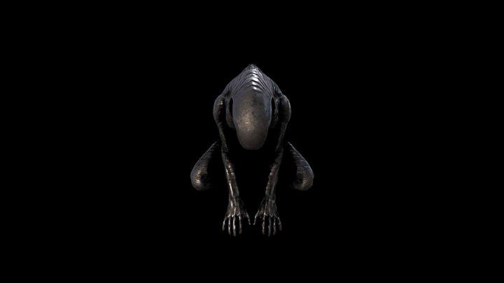 Alien Statue 3D Model