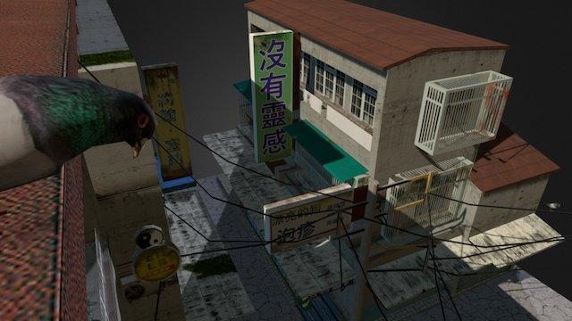 Cityscene Tapei 3D Model