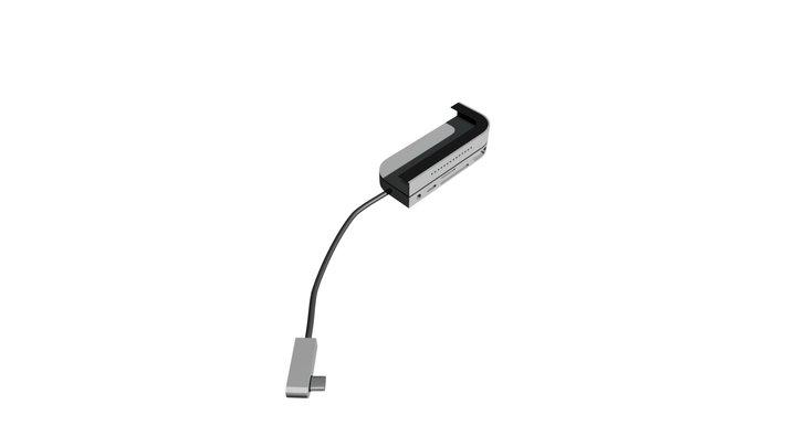 USB-C hub 3D Model