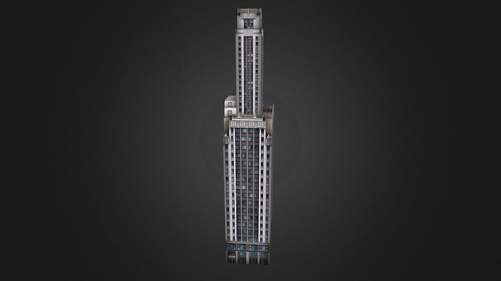 Willoughby Tower - Chicago, IL USA 3D Model