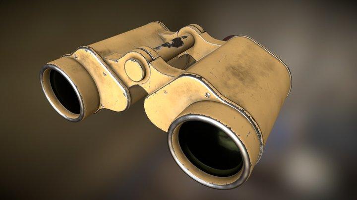 WWII German Dienstglas 6x30 CAG Binoculars 3D Model