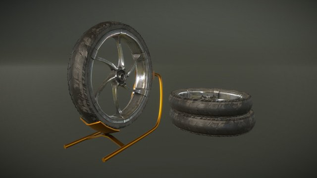 Cgc Wheel001-rk 3D Model