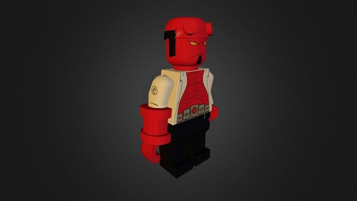 Hellboy Lego 3D Model