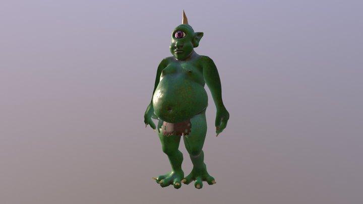 Fat Cyclops (Green) - Avatar 3D Model