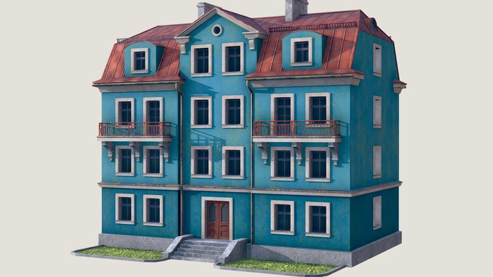 Stylised Building 3D Model