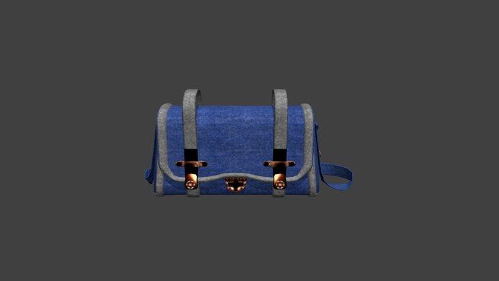 Denim Handbag. 3D Model