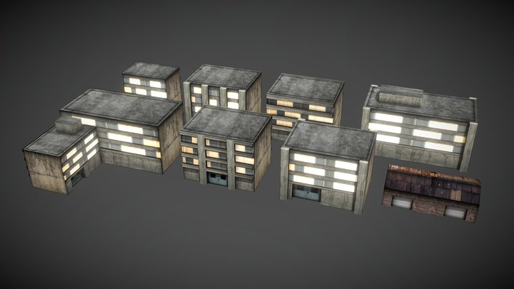 Dystopia City - Warehouse 3D Model