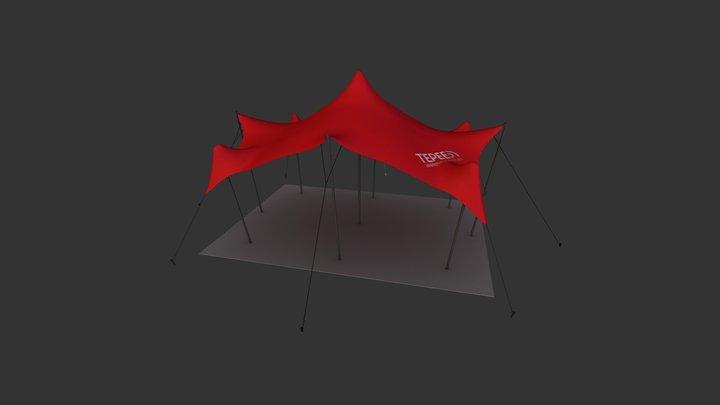4.5m x 6m Freeform Stretch Tent - Teepee Brandin 3D Model