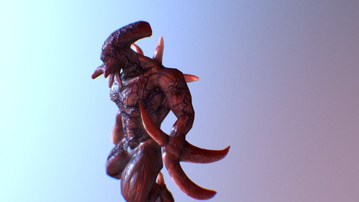 Mutant protoss 3D Model