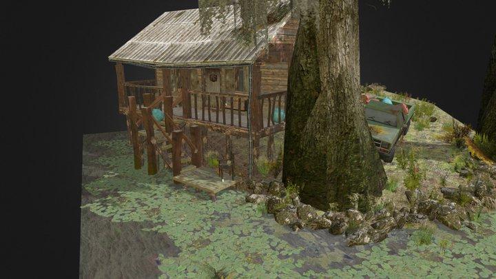 Pieter Vanderroost - 1DAE22 Forest Loner Diorama 3D Model