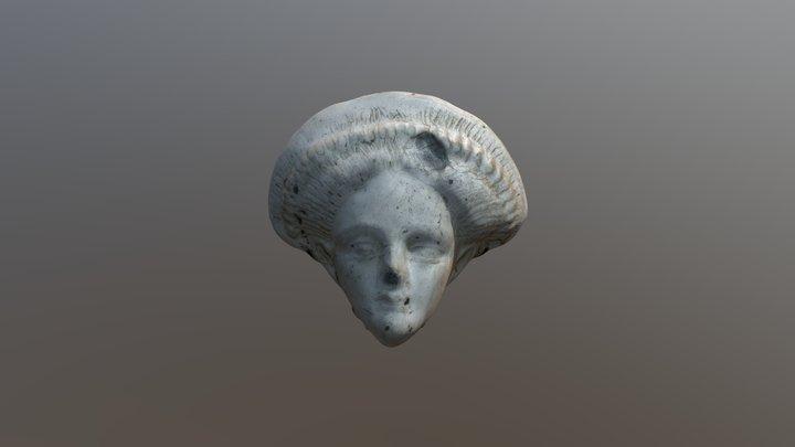 Buste féminin au diadème 3D Model