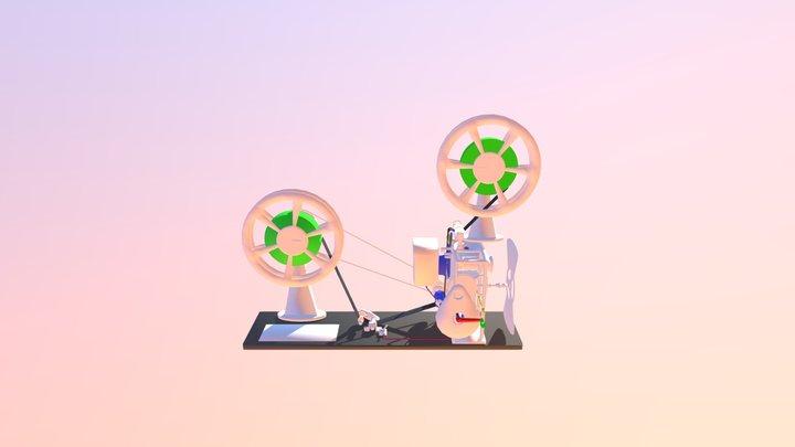 21 Proyector Hechizo HP Animado Funcionamiento 3D Model