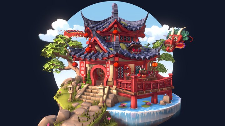DAE Villages | Chinese Festival Store 3D Model