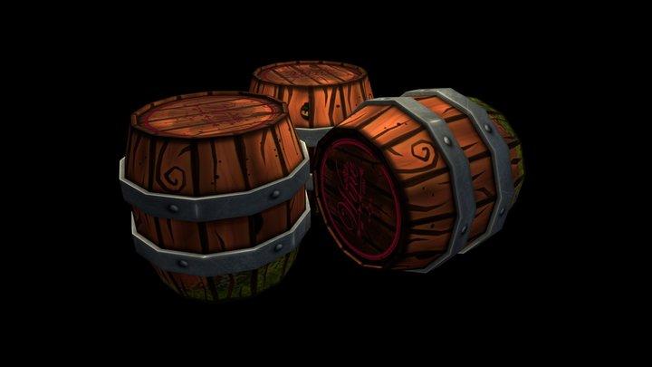 Props  barrels 3D Model