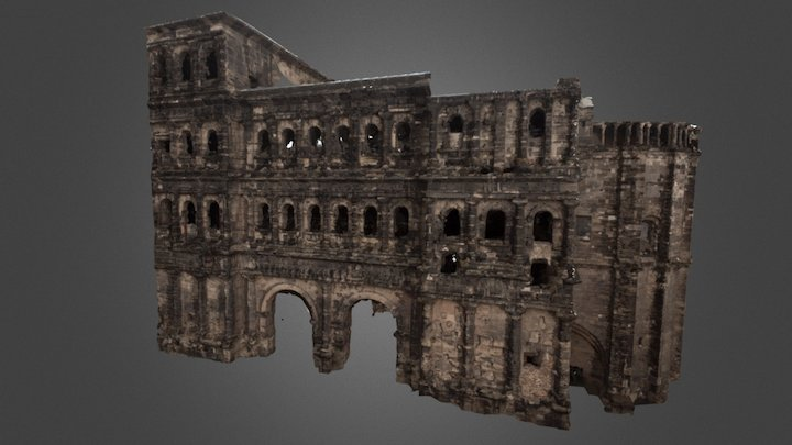 Porta Nigra - Roman city gate in Trier, Germany 3D Model
