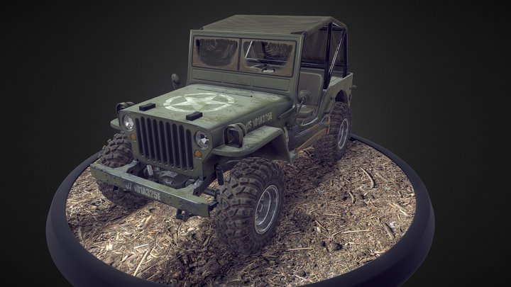 Jeep Willys SUV 3D Model