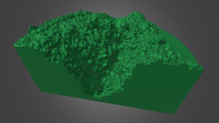 Pozzo del Merro - Sinkhole 3D Model